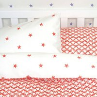 Stars And Stardust Bed Linen Set, Pink/Lilac/Red