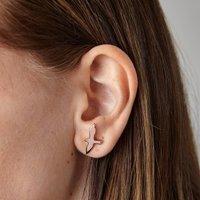 Seagull Stud Earrings, Rose Gold/Rose/Gold