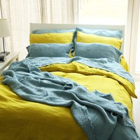 Stone Washed Linen Bed Set