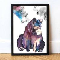 Bear Water Colour Art Print