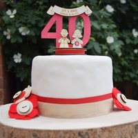 Personalised 40th Anniversary Cake Topper