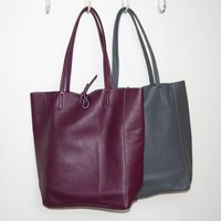 Leather Tote Shopper Winter Colours