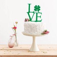 Shamrock Love Clover Party Cake Topper