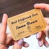 Personalised Best Girlfriend Ever Purse Card