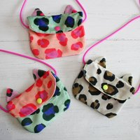 Velvet Leopard Print Mini Bag