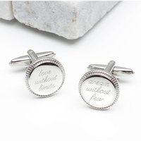 Personalised Inspirational Quote Cufflinks