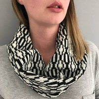 Monochrome Knitted Lambswool Snood