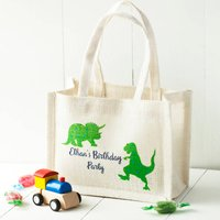 Personalised Design Jute Party Bags, White/Brown