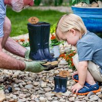 Daddy's Blue Personalised Welly Boot Planter