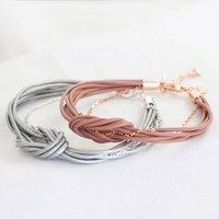 Knotted Multi Strand Bracelet