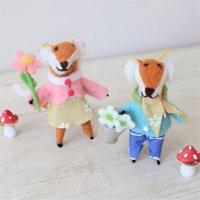 Handmade Felt Fox Decoration