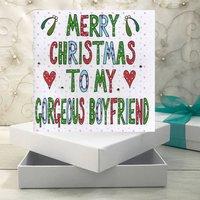 Personalised Boyfriend Christmas Book Card