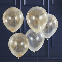 Gold Angel Hair Filled Party Balloons