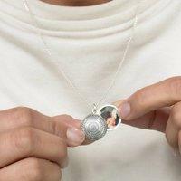 Personalised Silver Mandala Photo Locket, Silver
