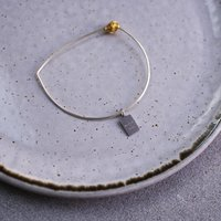 Melia Sterling Silver And Gold Plated Bangle, Silver