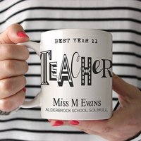 Personalised 'Fontastic Teacher's' Mug