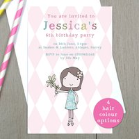 Personalised Girl's Birthday Party Invitations