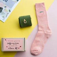 'Feel Good' Embroidery Socks Set Of Three