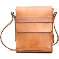 City Leather Messenger, Tan/Chocolate/Black