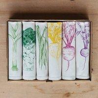 Garden Vegetable Napkin Gift Set