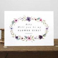 Personalised Flower Girl Card