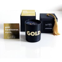 24k Gold Frankincense + Myrrh Scented Candle