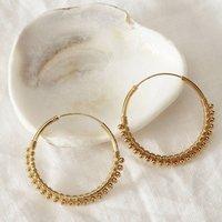 Gold Hoop Detailed Earrings, Gold