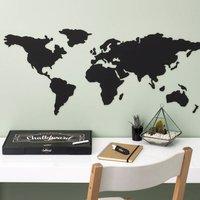 World Map Chalkboard