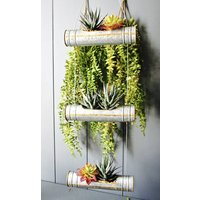 Zinc Tube Triple Tiered Planter