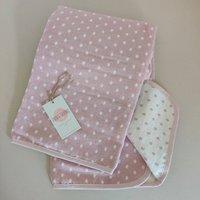 Personalised Pink Polka Dots Baby Blanket Gift
