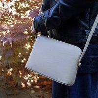 Structured Italian Leather Crossbody Handbag