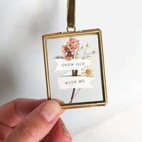 Grow Old With Me Miniature Floral Frame