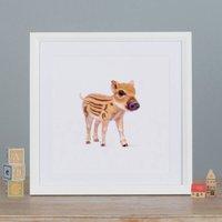 Illustrated Boar Print