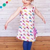 Girls Handmade Superhero Pinafore Dress