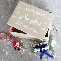 Luxury Personalised Wooden Christmas Eve Box