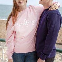 Wifey Sweatshirt Jumper, Black/Grey/Navy