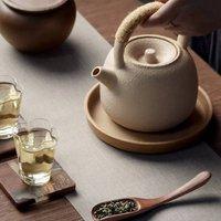 Light Peach Ceramic Teapot