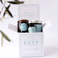 Personalised Up Energise And Uplift Pamper Gift Box, White/Black