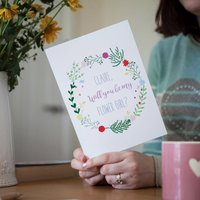 Personalised Floral Will You Be My Flower Girl Card