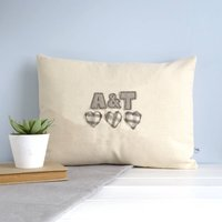 Personalised Couple's Initials Cushion