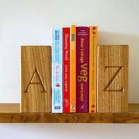 Personalised Wooden Bookends