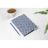 Safiya Sketchbook, Geometric Blue And Orange Pattern
