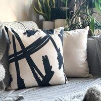 Modern Splatter Print Cushion Cover