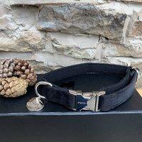 The Knightsbridge Festive Black Velvet Dog Collar