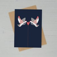 Doves Heart Greeting Card