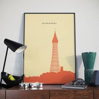 Blackpool Poster. Blackpool Tower Poster. Print