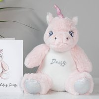 Personalised Unicorn Soft Toy