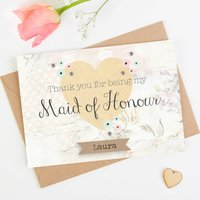Thank You Maid Of Honour Card Floral