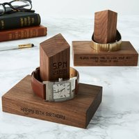 Personalised 18th Birthday Time And Date Watch Stand