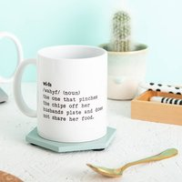 Personalised Wife Definition Mug Gift